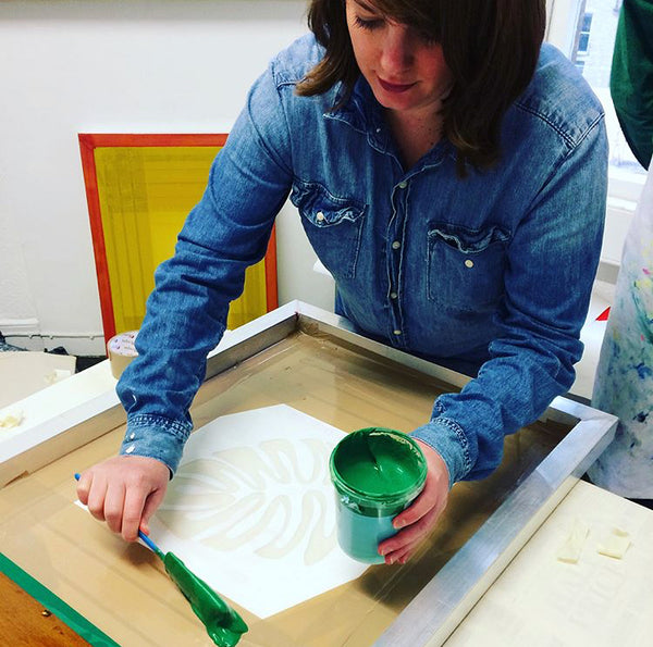 Screen Printing at Resident Bath