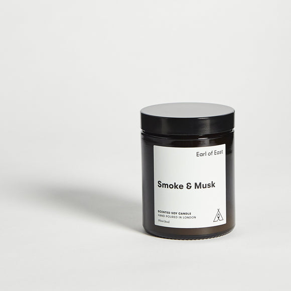 Candle - Earl Of East Smoke & Musk Scented Candle