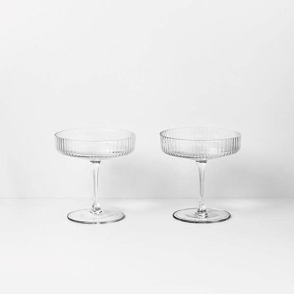 Glassware - Ferm Living Ripple Champagne Saucer