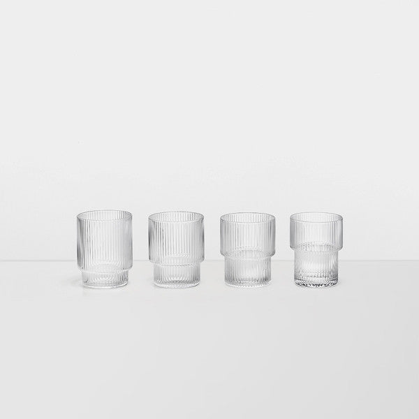 Glassware - Ferm Living Ripple Glasses (set Of 4)