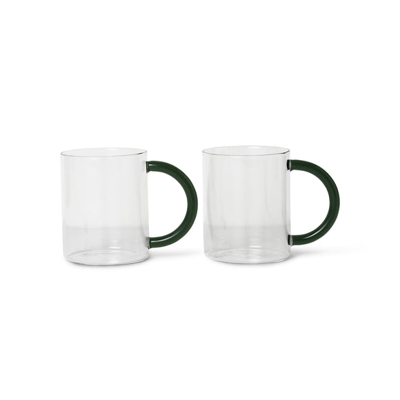 Glassware - Ferm Living Still Mugs - Set Of 2, Clear