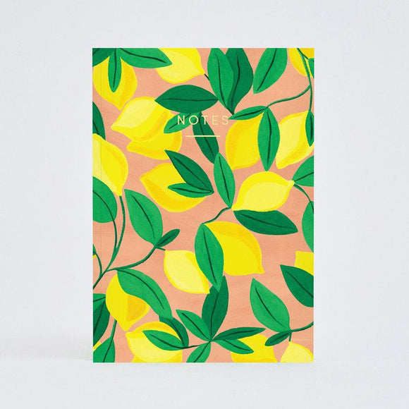 Notebook - Wrap Tuscan Lemons Notebook A5