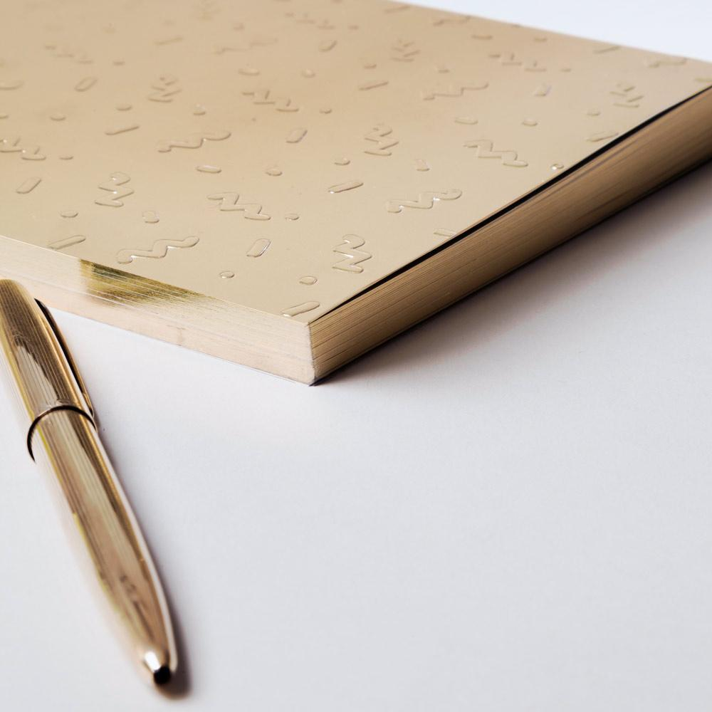 Notebook - Write Sketch & Gold Coriandoli A5 Notebook