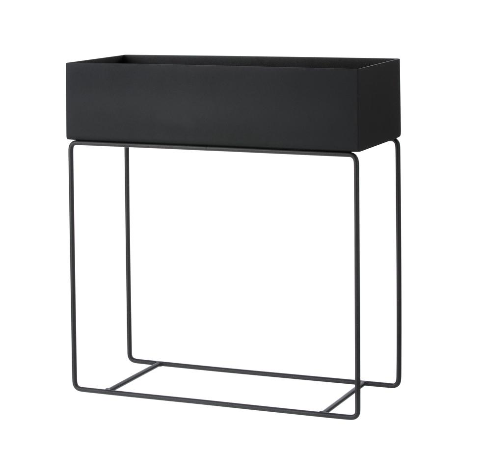 Planter - Ferm Living Large Black Plant Box