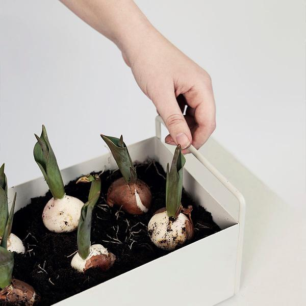 Planter - Ferm Living Light Grey Plant Box - Small