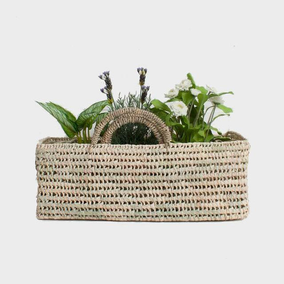 Planter - Open Weave Palm Leaf Storage Baskets