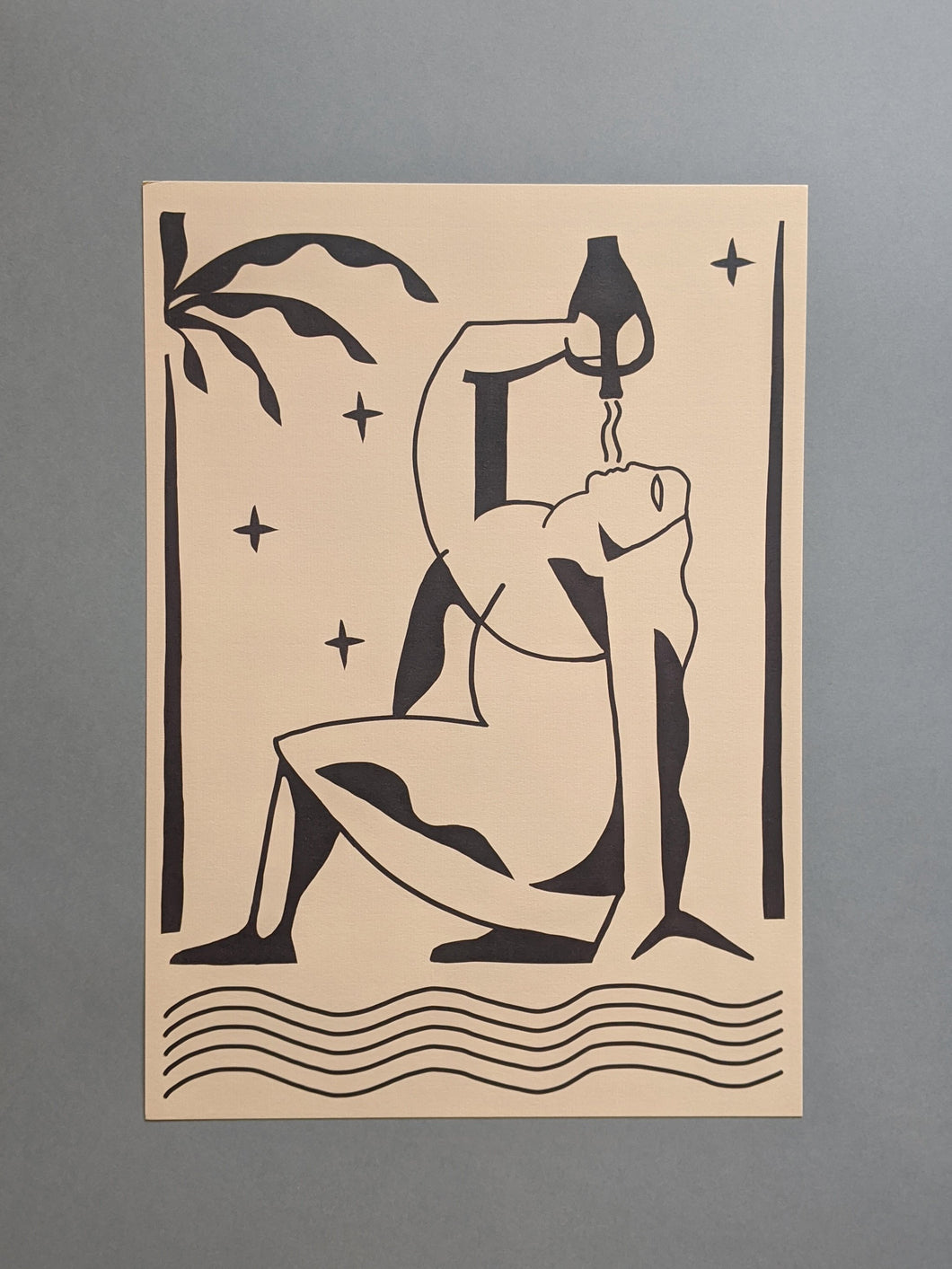 Printed Goods 'Water Carrier' A3 Print