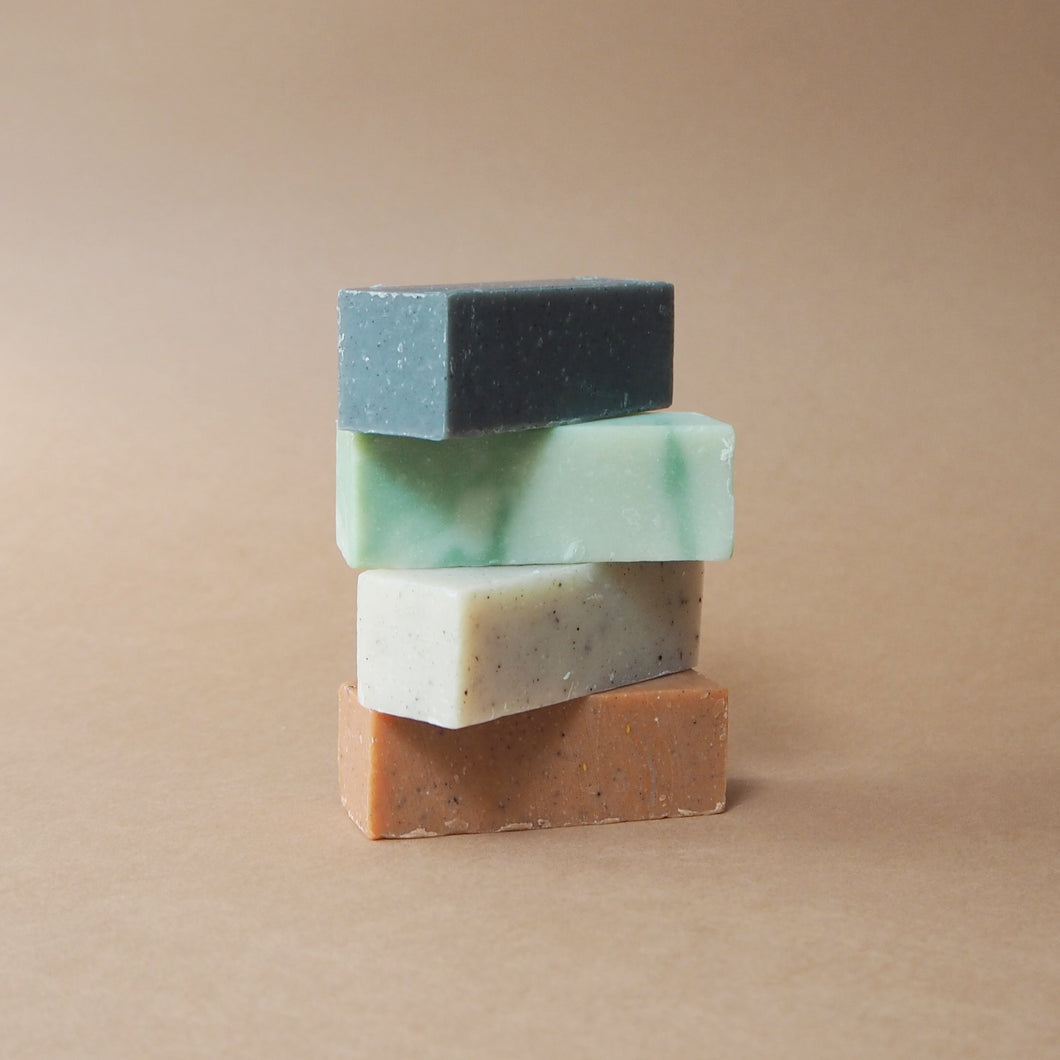 Meraki Soap Selection: Papaya, Green Clay, Sesame & Detox