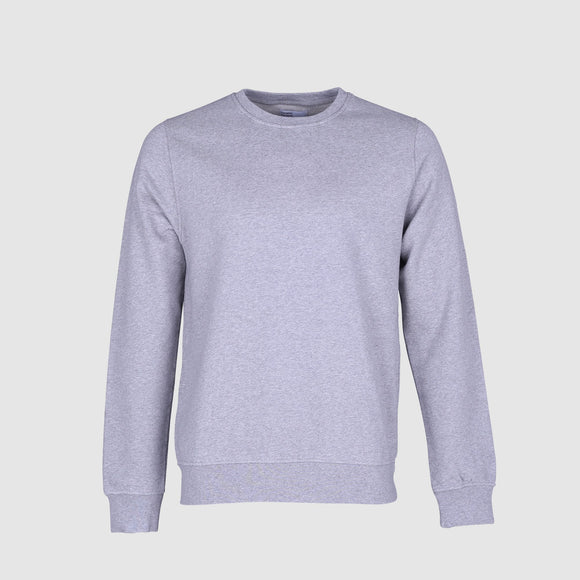 Sweater - Colourful Standard Heather Grey Classic Organic Crew Sweater