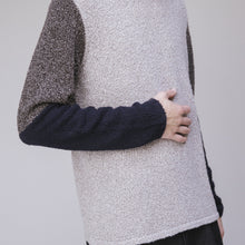 Load image into Gallery viewer, Sweater - Folk Textured Contrast Crew