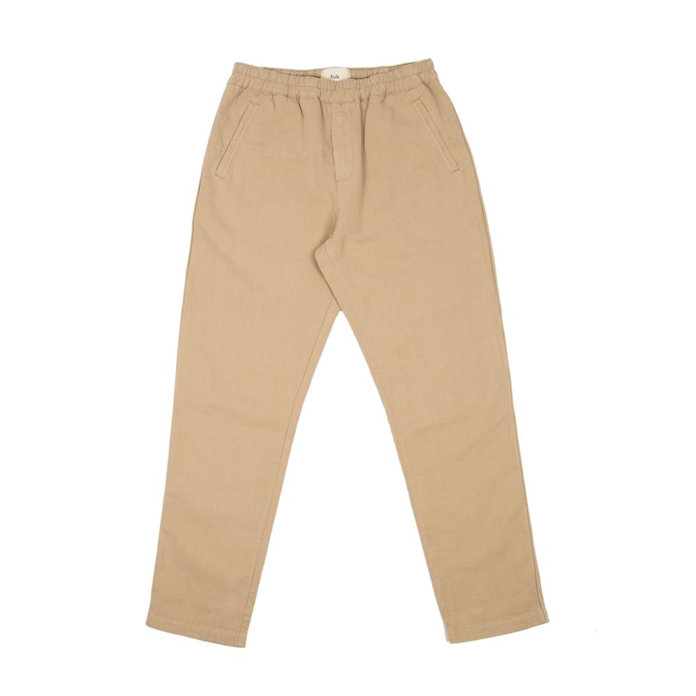 Folk Cotton Linen Drawstring Trousers - Fog