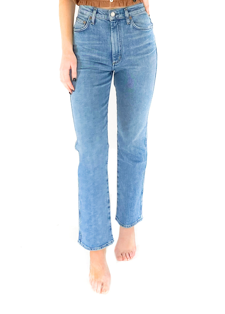 agolde pinch waist denim pant jean high rise high waisted