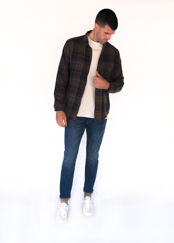 THE NORMAL BRAND | Gerard Washed Twill Button-Up Shirt