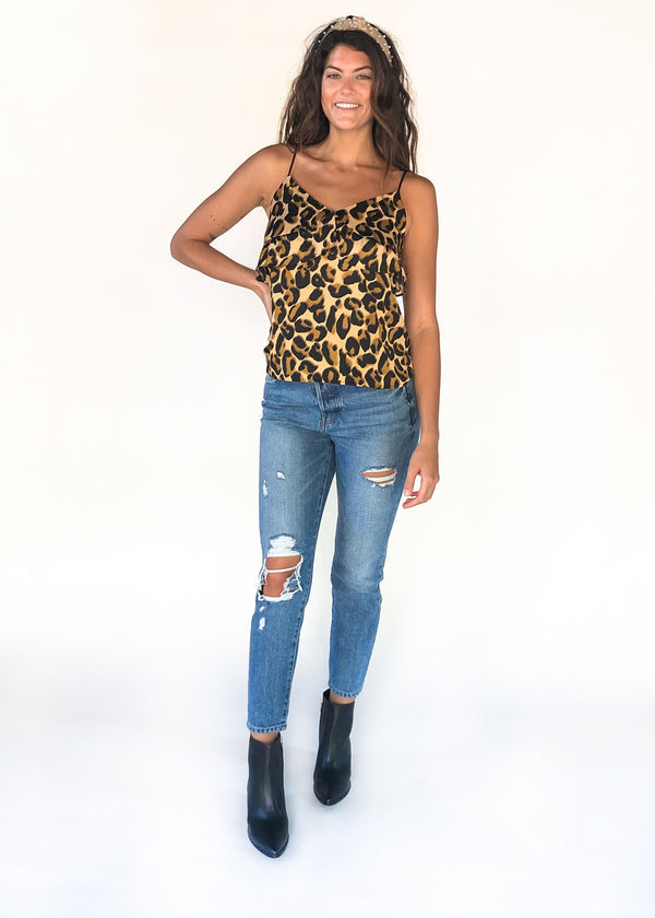 SCOTCH AND SODA | Printed Leopard Tank