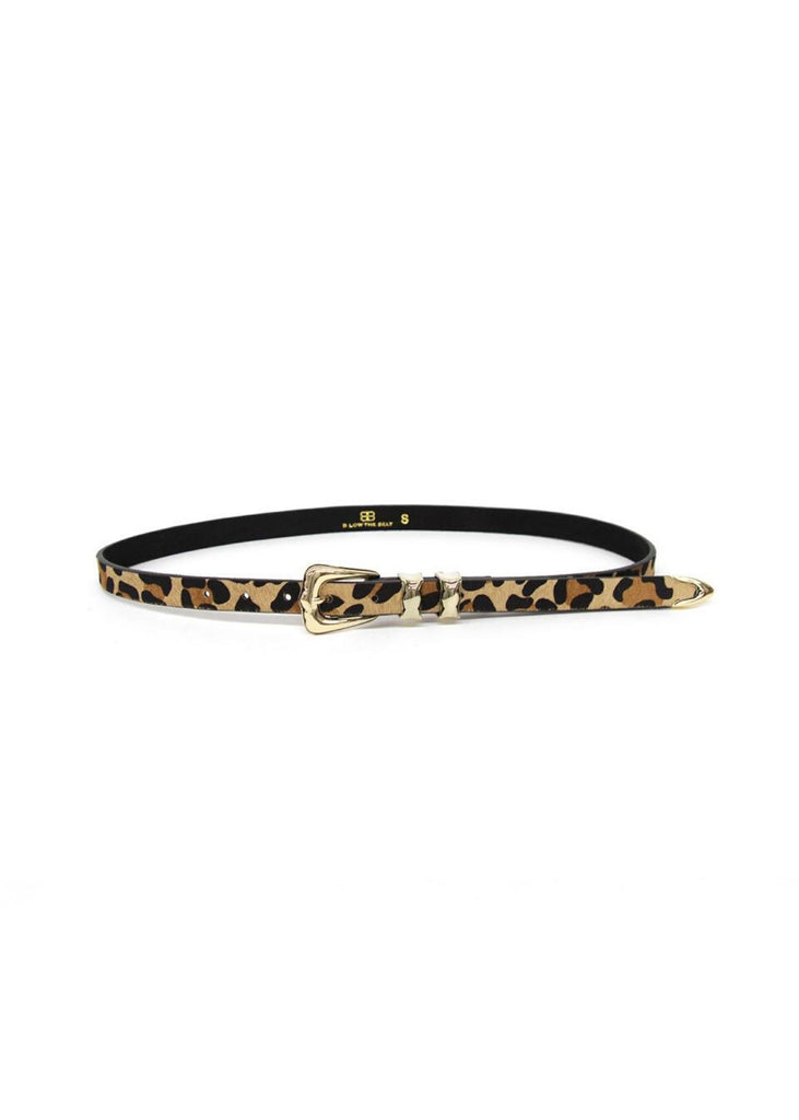 B-LOW THE BELT | Lennie Calf Leopard Gold