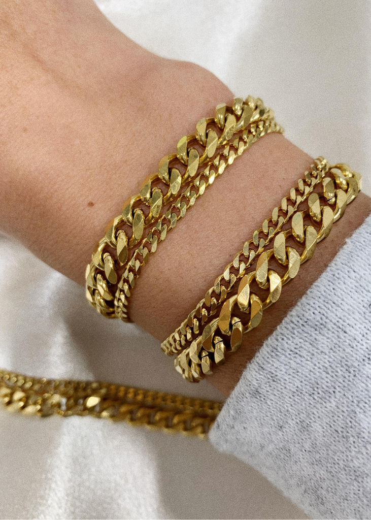 gold bracelet chain layer bracha gigi
