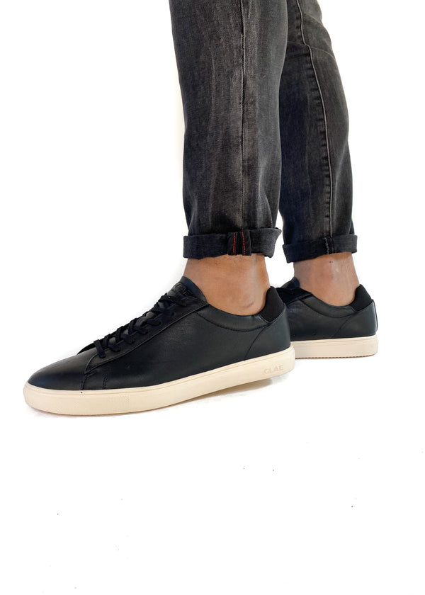 CLAE | Bradley Black Leather Sneaker