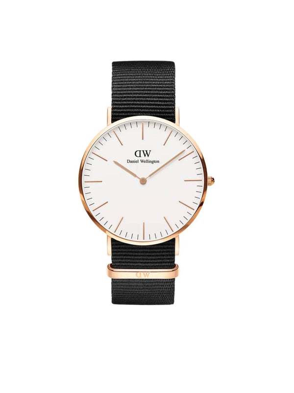 DANIEL WELLINGTON l Classic Cornwall Rose Gold and Black Watch