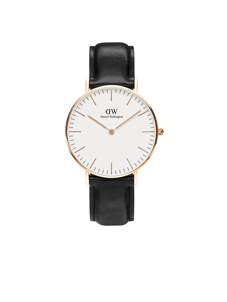 DANIEL WELLINGTON | Classic Sheffeild Black and Rose Gold Watch 36mm