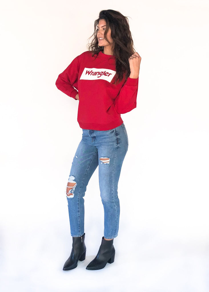 WRANGLER | Red Logo Sweatshirt