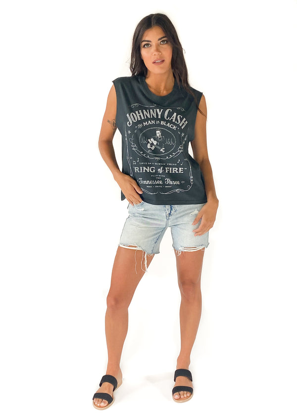 DAYDREAMER | Johnny Cash Ring of Fire Muscle Tee