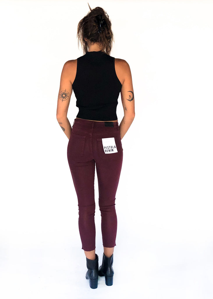 PISTOLA | Aline High Rise Skinny Jean in Coated Syrah