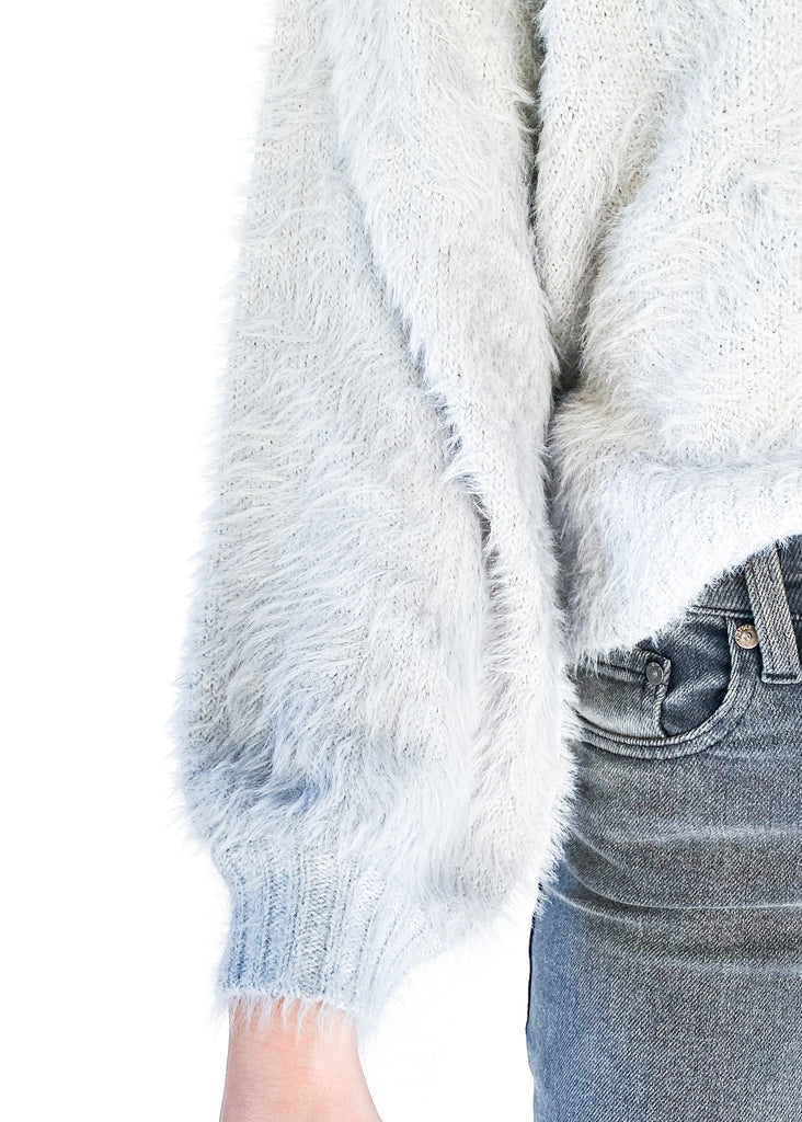 ELAN | Fuzzy Grey Sweater