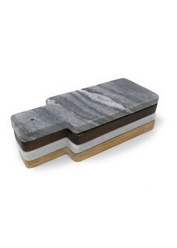 FLOOR 9| Marble and Wood Mini Boards Set of 4
