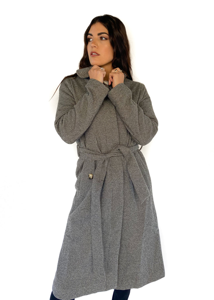 FRNCH | Woven Coat in Grey
