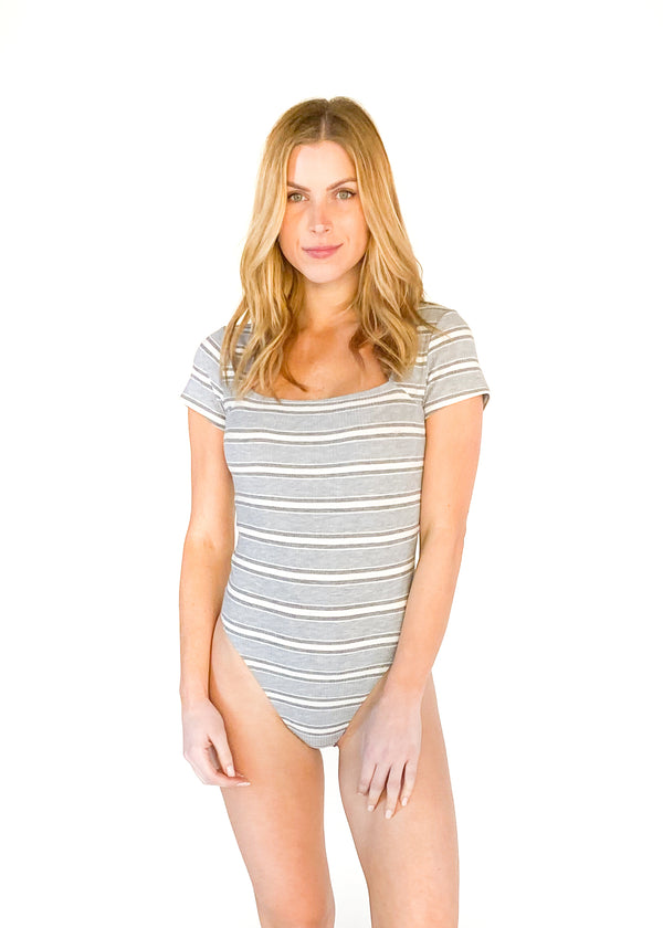 GENTLE FAWN | Gemma Bodysuit in Tri Stripe