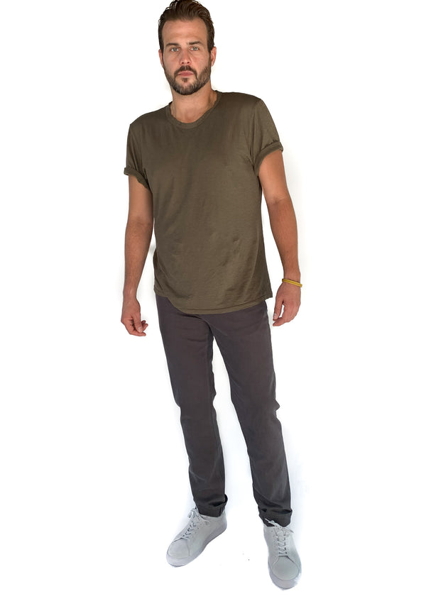 GROCERIES APPAREL | Paco Hemp Crew in Dark Olive