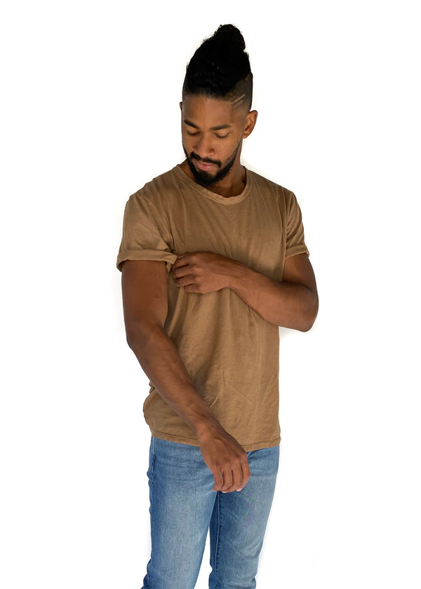 GROCERIES APPAREL | Paco Hemp Crew in Chestnut