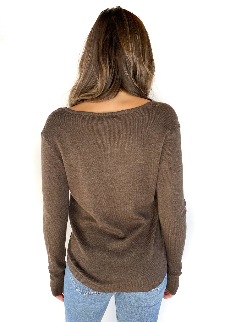 LUCY PARIS | Lorne Knit Sweater in Brown