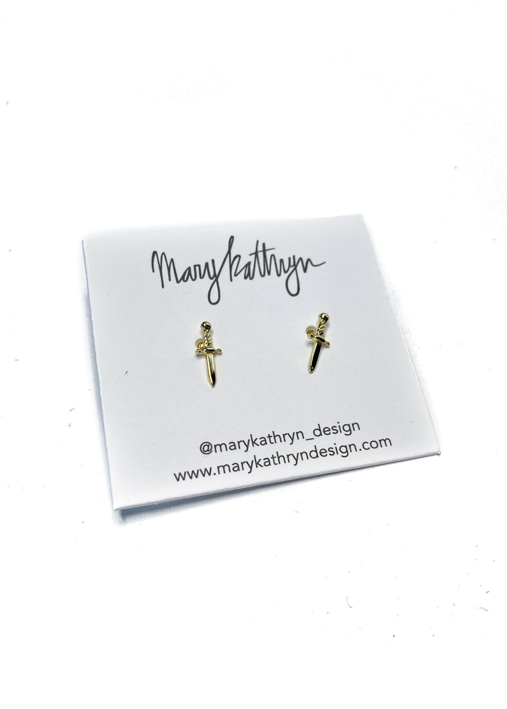 MARY KATHRYN DESIGN | Dagger Stud Earrings
