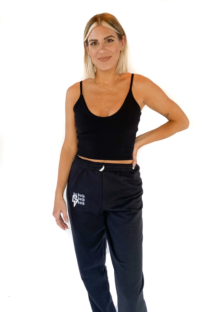 GROCERIES APPAREL | Cami Crop Top in Black