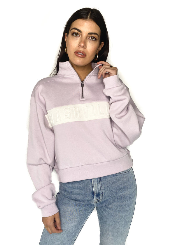 NASH COLLECTION | Iconic Quarter Zip in Lilac