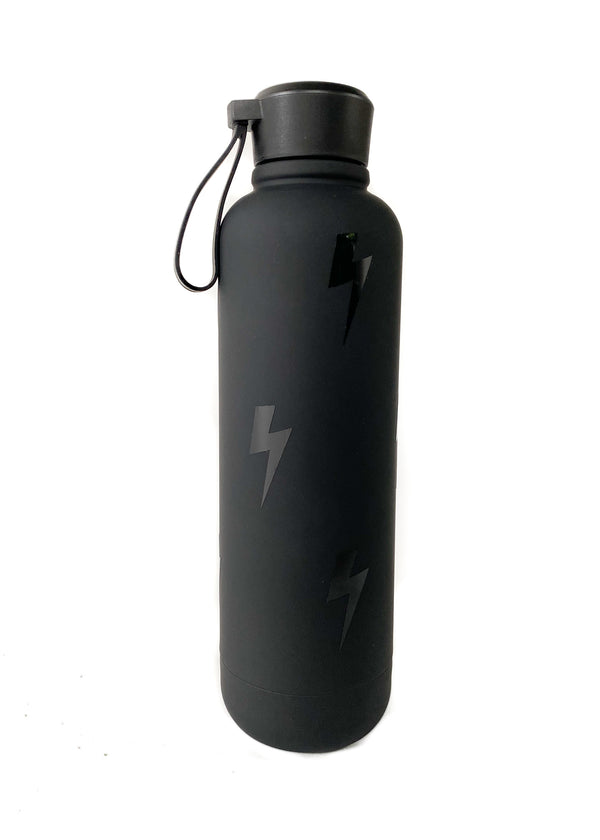 MARY KATHRYN | Bolt Water Bottle in Black