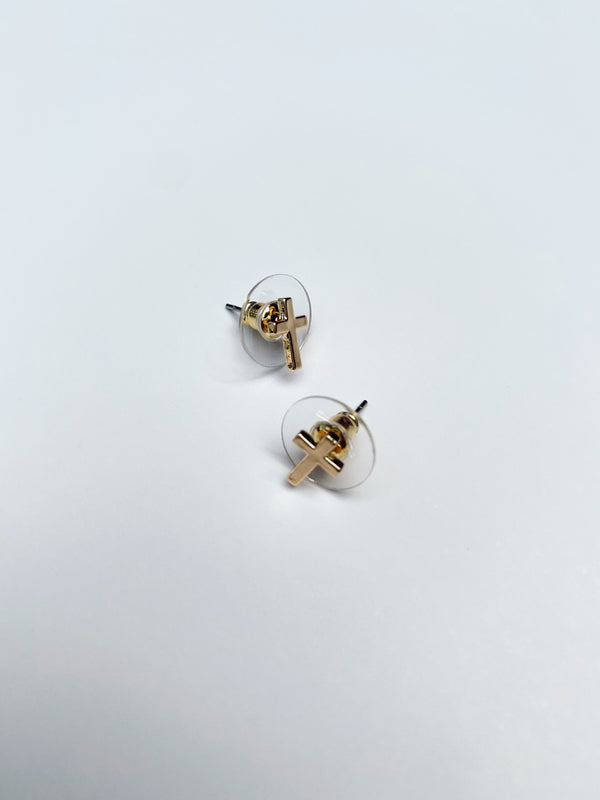 Mary Kathryn | Cross Stud Earrings