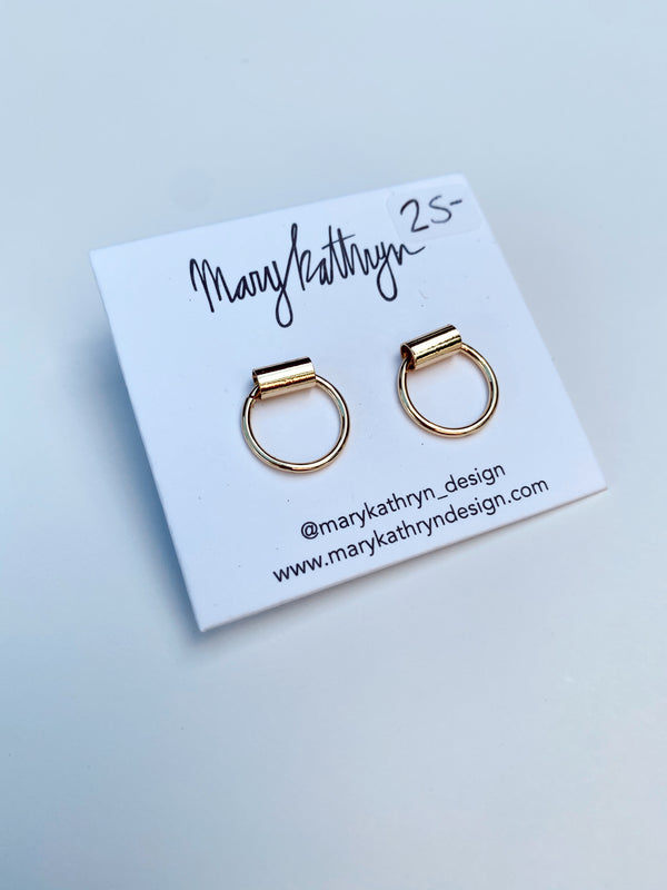 Mary Kathryn | Gold Ring Stud Earrings