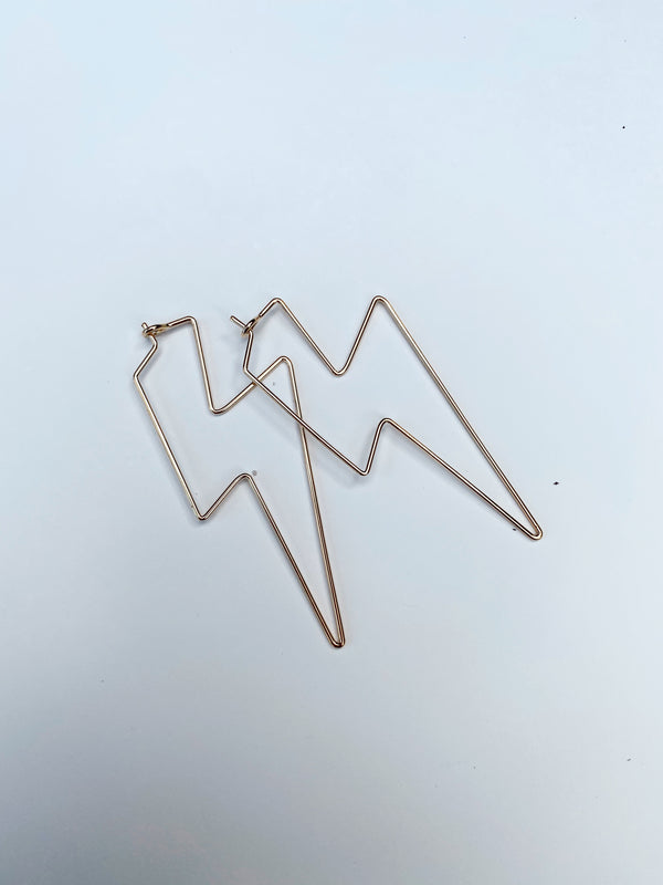 Mary Kathryn | Large Bolt Hoop Earrings