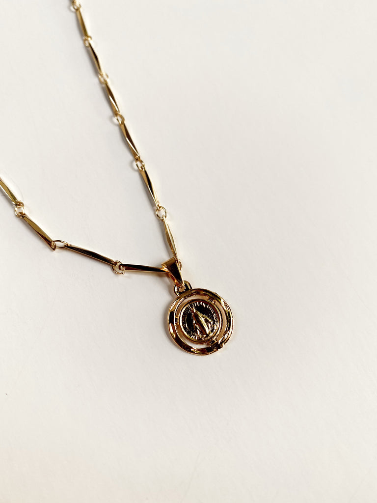 Mary Kathryn | Small Saint Link Chain Necklace