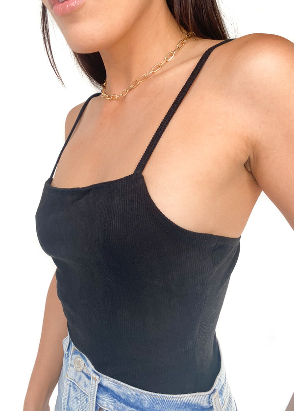 LE LIS | Solid Bodysuit In Black