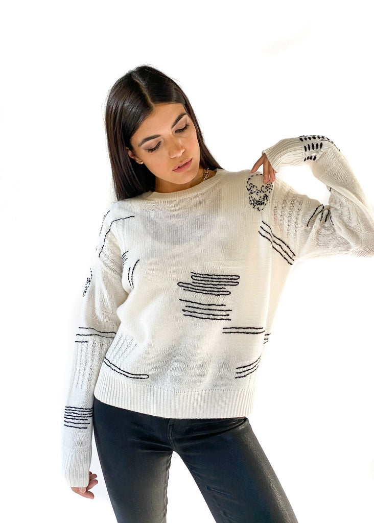 360 CASHMERE | Paxton Sweater in Chalk