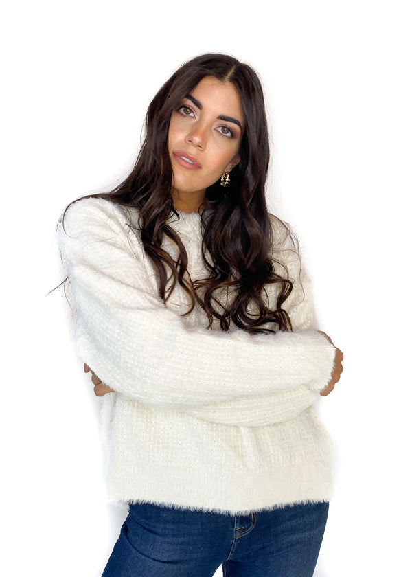 FRNCH | Nafi White Knitted Sweater