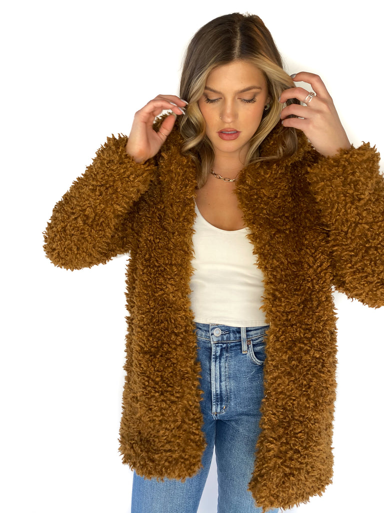 LUCY PARIS | Madilyn Oversized Teddy Jacket