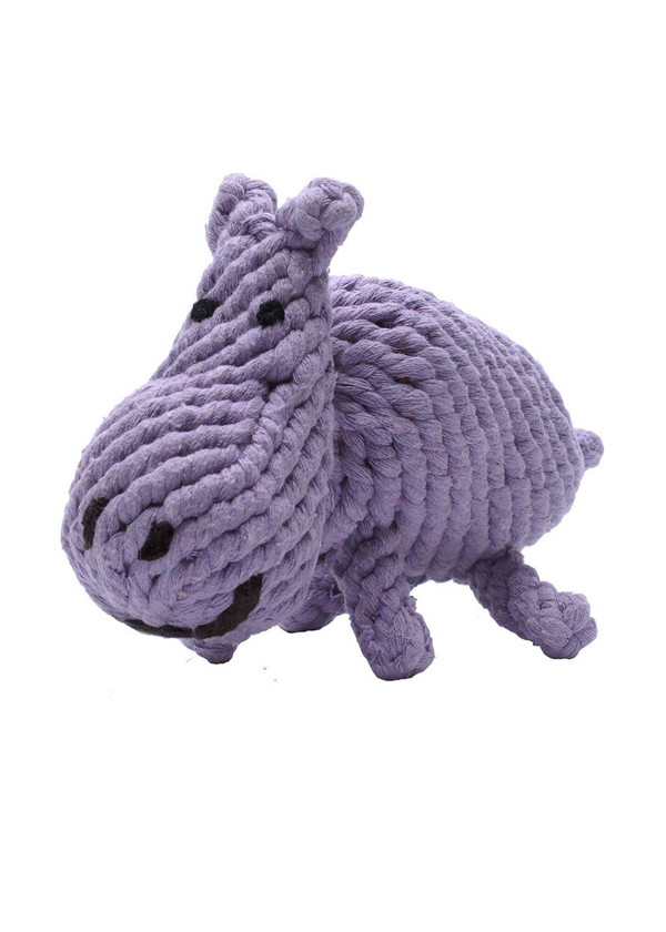 JAX & BONES | Hippo Jumbo Rope Dog Toy