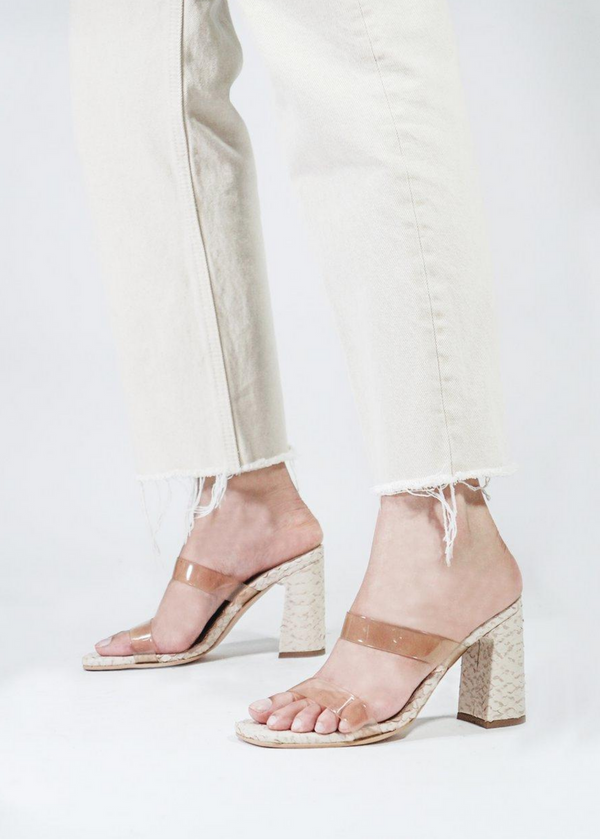 KAANAS | Florence Snake Heels in Natural