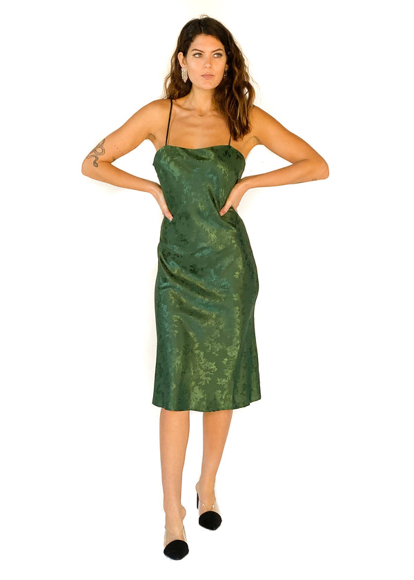 LUCY PARIS | Green Addison Bias Dress