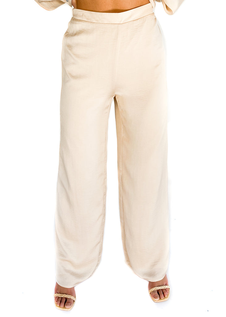 LUCY PARIS | Finley Pant in Beige