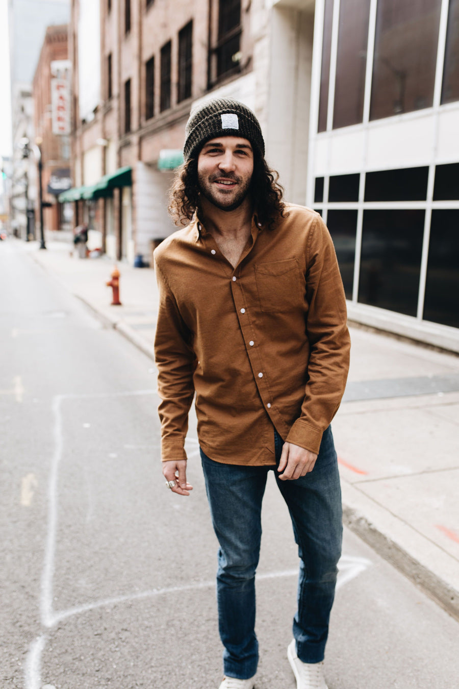 SATURDAYS NYC | Burnt Khaki Crosby Flannel